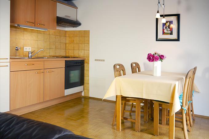 Ferienwohnung Apparthaus Arosa Küche